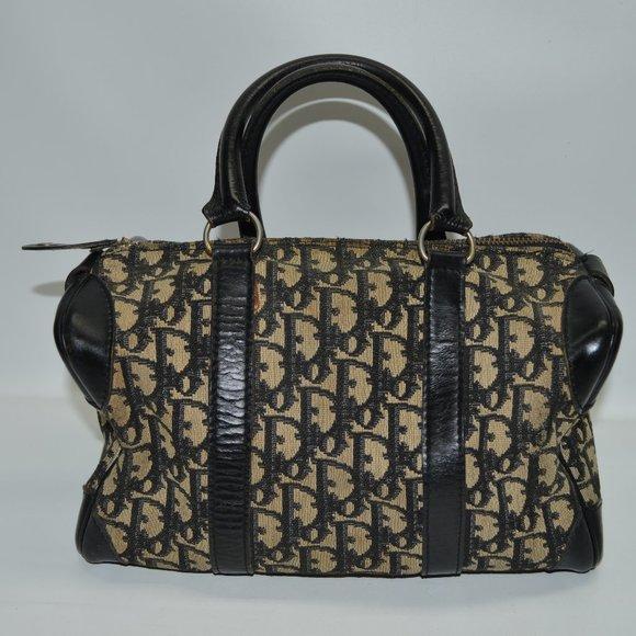 Christian Dior Vintage Trotter Satchel Boston Bag